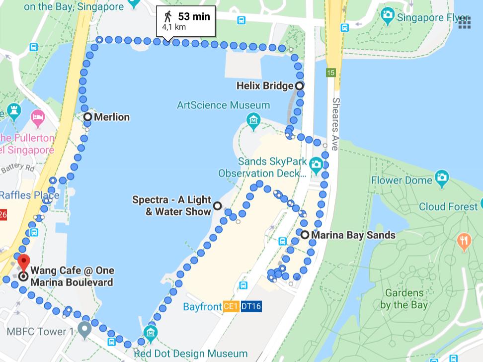 Trasa po Singapurze
